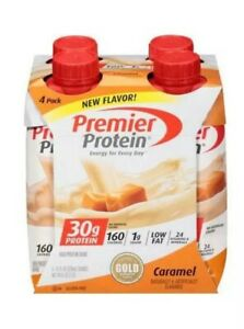 Premier High Protein Shake Caramel 30g Protein Energy Drink Shake 4 Pack 11 Oz