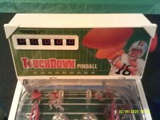 Nos Vintage 1988 Tabletop Touch Down Football Pinball Game New Listing