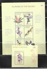 MICRONESIA Sc 385-8 NH MINISHEETS+SOUVENIR SHEETS OF 2000 - FLOWERS - ORCHIDS