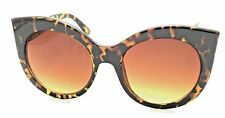 Cat Eye SUNGLASSES Big Tortoiseshell Frames Brown Gradient Lenses Style 642