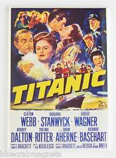 Titanic (1953) Fridge Magnet (2.5 x 3.5 inches) movie poster barbara stanwyck