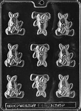 CUTE BABY BUNNY PIECES mold Chocolate Candy bunnies rabbit cake toppers E450