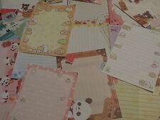Kawaii San-X Crux Q-Lia Chocopa Panda Nyanko Large Memo Sheets 25pcs Set [1]