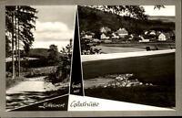 Glashütte Lippe Mehrbildkarte 1969 gelaufen Waldweg Teilansicht Panorama
