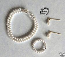 """Revlon Doll fits Double Strand Pearl Jewelry Necklace, Bracelet Earrings 18-22"""""""