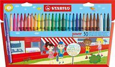 Stabilo Power 30 Feutres fibre Pointe stylos en Porte-feuille 30