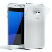 Schutz Hülle für Samsung Galaxy S7 Edge Cover Handy Case Matt Transparent
