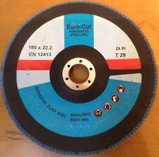 EURO-CUT PRO-LINE ABRASIVE FLAP DISC 180 X 22.2 ZA80 EN12413 80M/S MAX 8600/MIN