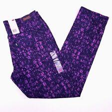Levis Womens Size 12 Medium Classic Mid Rise Skinny Jean Purple Black NWT