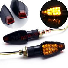 2x Motorcycle Front Rear Arrow LED Turn Signals Amber Indicator Blinker Flasher