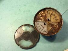 "Car dashboard amperes oil temperature guage British Jaeger 3 1/4"" diameter clock"