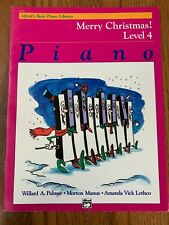 FREE SHIPPING! Merry Christmas! Level 4, piano, Alfred's Basic Piano Library