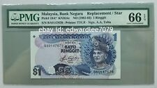 Malaysia 5th Series RM1 Replacement note BA0147679 PMG 66EPQ