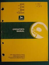 John Deere 8560, 8760, 8960 Tractor Operator'S Manual