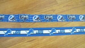 "Detroit Lions 7/8"" Grosgrain Ribbon By the Yard"