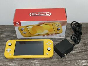 NINTENDO SWITCH LITE Yellow Handheld Video Game Console Bundle w/ Charger & Box