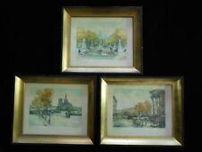 Lot of 3 Framed Vintage Charles Moudin Signed Numbered Art Pictures