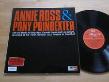Annie Ross & Pony Poindexter with Berlin All Stars LP MPS Germany Carmel Jones