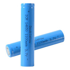 2PCS 14650 Rechargeable Li-ion Power Battery 3.7V 1100mAh Flat Top Durable BC873
