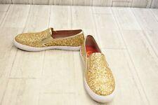 ** G By Guess Malden 7 Glitter Slip On Sneakers, Women's Size 8M, Gold