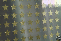 30 Etoiles OR Thermocollantes Flex, Flock, Patch, Gold glitter 1 cm