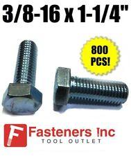 """(Qty 800) 3/8-16 x 1-1/4""""  Hex Bolt Zinc Plated Grade 5 Full Thread Cap Screw"""