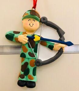 Personalized Ornament Cute Chemo Uniform Hunting Archer Birthday Anniversary
