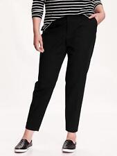 Old Navy Women's Black Mid-Rise Harper Trousers Pants Size 14