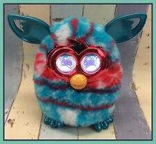 2012 Hasbro FURBY Boom Red White & Blue Interactive Talking Toy WORKS!