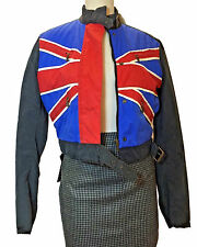 Authentic Belstaff Black Prince Union Jack Blouson Jacket EU 44 Made In Italy