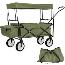 Carretto pieghevole con tetto in tela carrello rimorchio trasport giardino verde