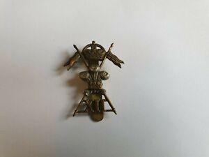 WW2 12th LANCERS KC.BI-METAL ARMY CAP BADGE