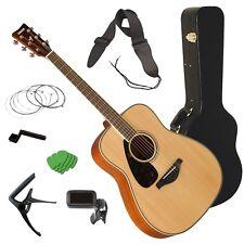 Yamaha FG820L Left-Handed Acoustic Guitar - Natural STAGE ESSENTIALS BUNDLE