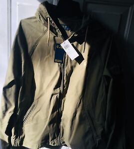 NWT MSRP $145.00 Polo Ralph Lauren Mens Hooded Canvas Jacket Green Size L