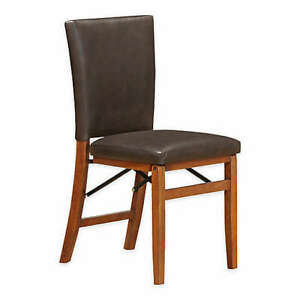 Parsons Folding  Dining Chair in Light Oak