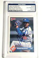 1993 Donruss Pedro Martinez Autograph Dodgers Card Red Sox Expos Auto PSA DNA
