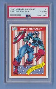1990 Marvel Universe #1 Captain America PSA 10 Gem Mint series 1 Impel