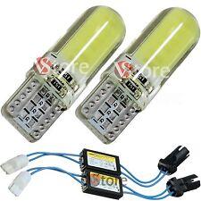 2 Led T10 Lampade Gel Silica 12 SMD COB No Errore Canbus BIANCO + 2 RESISTENZE