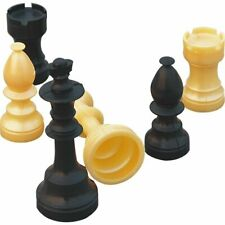 Chess Piece Complete Set Plastic - King Size 10cm - New