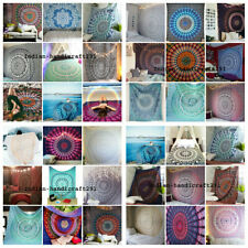 100 PC Wholesale Lot Hand Block Print Bed Sheet, Bed Spread, Tapestry Indian