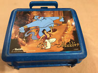 Disney Aladdin Movie Plastic Lunchbox 1990's Aladdin Industries NO Thermos