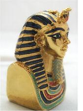 EGYPTIAN PEWTER MASK OF KING TUT/PHARAOH BUST FIGURINE.CUTE EGYPT SOUVENIR GIFT