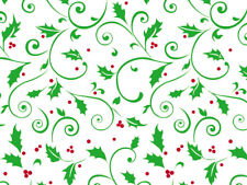25 Holiday Berries Christmas Green Red Cellophane 5x11 Cello Candy Gift Bags