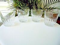 Set of 4 Clear Double Old Fashioned Rocks Glasses