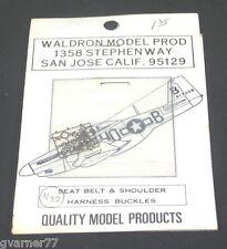 1/32 Waldron Model Seat Belt & Shoulder Harness Buckles Photo Etch Metal Decals