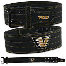 VELO Powerlifting Belt Weight Back Support Leather Gym Training Fitness Belts