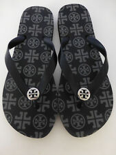TORY BURCH Black & Grey Flip Flop Sandals Size 6 New Without Box