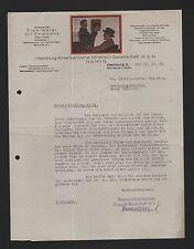 Hamburgo, carta 1929, Hamburgo-americana aceite mineral-GmbH hamig