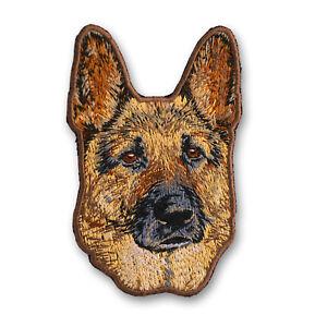 Aufnäher Bügelbild Sticker Applikation SCHÄFERHUND M4 Hund zum aufbügeln