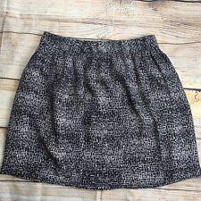 DKNY Womens Geometric Pattern Knee Length Skirt Size 8 Brown Beige